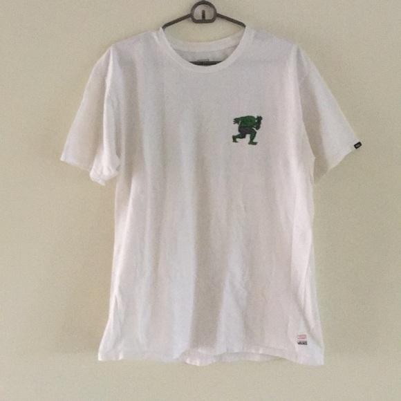 56bc3eb41e Vans X Marvel Hulk white T-shirt